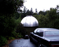 1991 Lincoln TownCar by Dad's observatory in Santa Cruz County, CA cira 1998